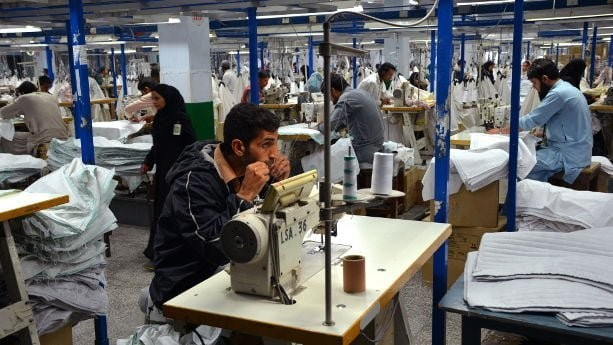 Pakistan's textile and clothing exports grew by 4.88 percent year-on-year to $6.04 billion between July to November